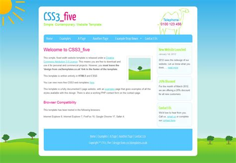 simple free html5 css3 template templates perfect