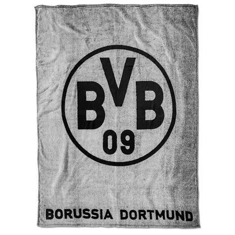 BVB Decke BVB Logo grau Borussia Dortmund Fleecedecke 150
