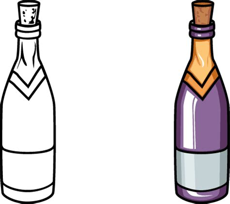 cartoon wine bottle wine bottle cartoon clipart