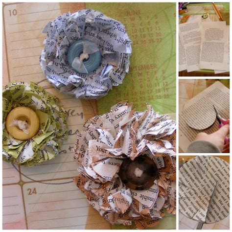 How To Make Recycled Paper Flowers - how to make a paper flower from newspapers ted