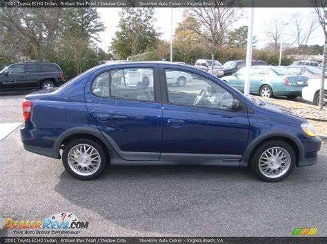 2001 Toyota Echo 2001 Toyota Echo Sedan Brilliant Blue Pearl Shadow Gray