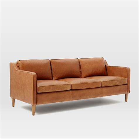 sofas leather hamilton leather sofa west elm