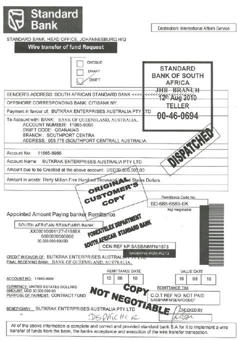 wire transfer receipt template scamorama