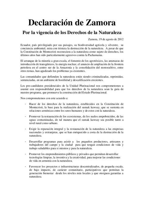 declaracion juramentada derecho ecuador ecuador declaraci 243 n de zamora por la vigencia de los