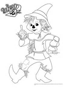 wizard of oz coloring pages wizard of oz scarecrow shadow puppet template oz
