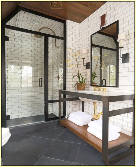 White Bathroom Tiles With Black Grout by White Tile Grout Wall Tile In Kitchens With Gold