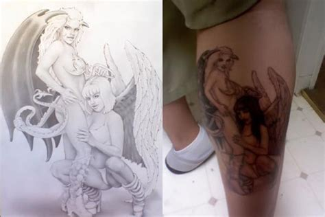 angel and devil tattoo by dfksone on deviantart