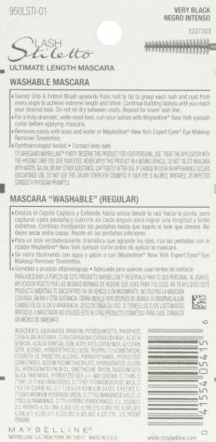 Maybelline Lash Stiletto Ultimate Length Washable Mascara Expert Review by Maybelline New York Lash Stiletto Ultimate Length Washable