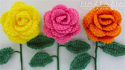 youtube a pattern of roses diy learn how to crochet a beginner easy flower rose