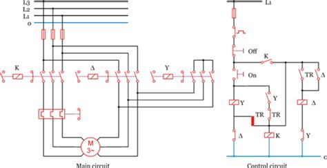 delta circuit diagram with timer delta 3 phase motor automatic starter with timer