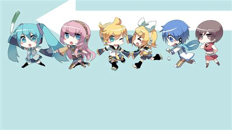 chibi vocaloid hd wallpaper and background image