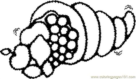 cornucopia outline coloring page free a cornucopia with the fruit coloring pages