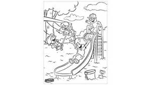 playground coloring pages school themed coloring pages