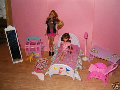 barbie bedroom set barbie bedroom set a cute dog and a little girl barbie