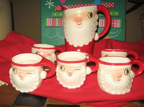 Mug Natal Santa Claus holt howard mugs santa pitcher vintage