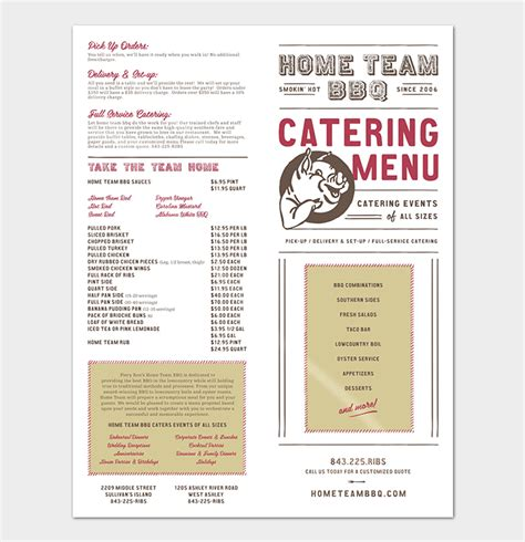 business menu template catering template 7 docs for word pdf