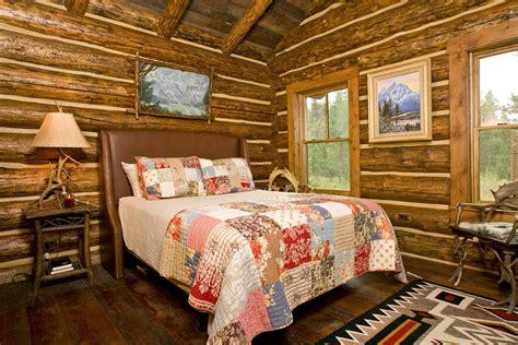 log cabin interior design  jackson hole teton heritage builders