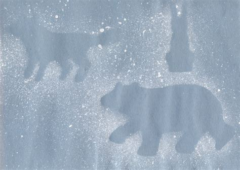 Winter Animal Crafts - polar arctic animals craft for preschool