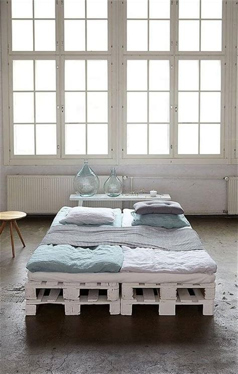 pallet bed frame ideas diy 20 pallet bed frame ideas 99 pallets