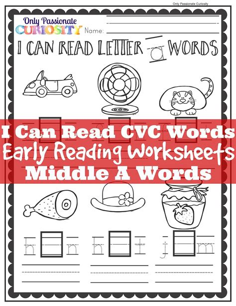 8 Words I Can Never Spell by I Can Read Cvc Words Middle A See And Write