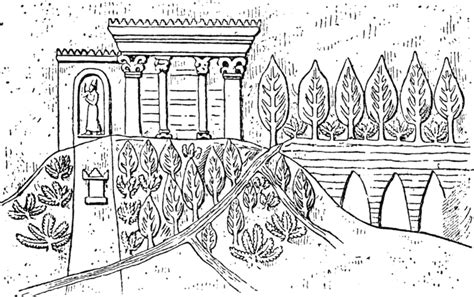 coloring pages hanging gardens of babylon file hanging gardens of babylon gif wikimedia commons
