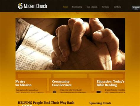 Best Church Website Templates Entheos Church Website Templates Html