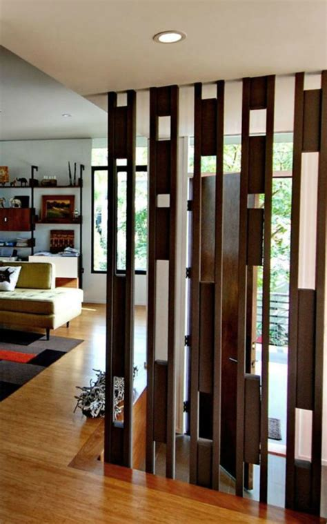 room dividers ideas wooden partition wall design for home