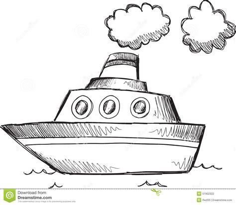 doodle boat doodle big boat vector stock illustration image 51902322