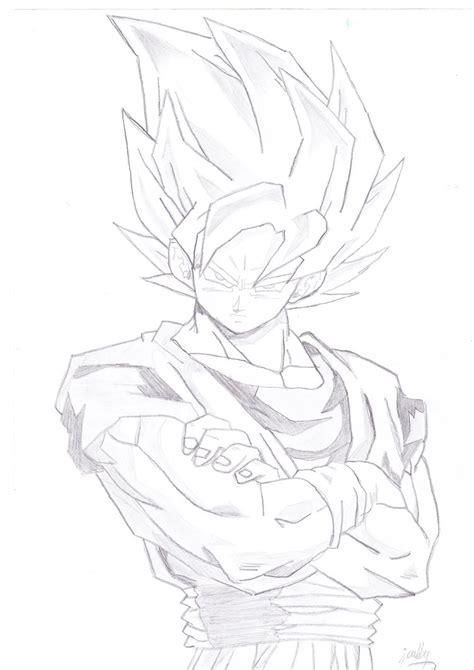 Z Sketches by Z Goku Saiyan By Jellyyfishh On Deviantart