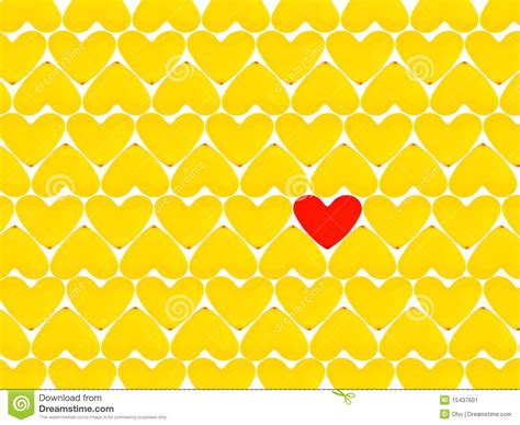 Yellow Hearts And One Red Heart Stock Image - Image: 15437601 Yellow Hearts Wallpaper