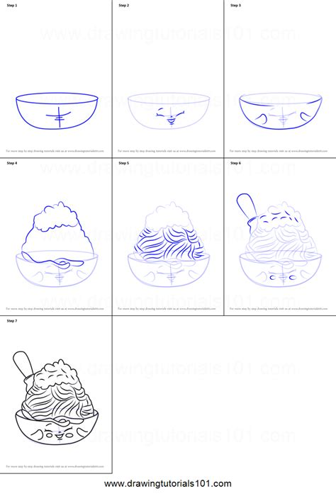 doodle drawing step by step how to draw netti spaghetti from shopkins printable step