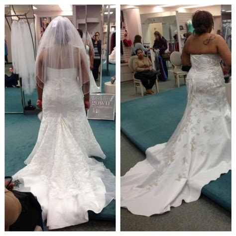 David's Bridal plus size wedding gown  let me see pics