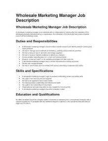 Duties Of Sales And Marketing Manager by Wholesale Marketing Manager Description Best Sle Network Jungle