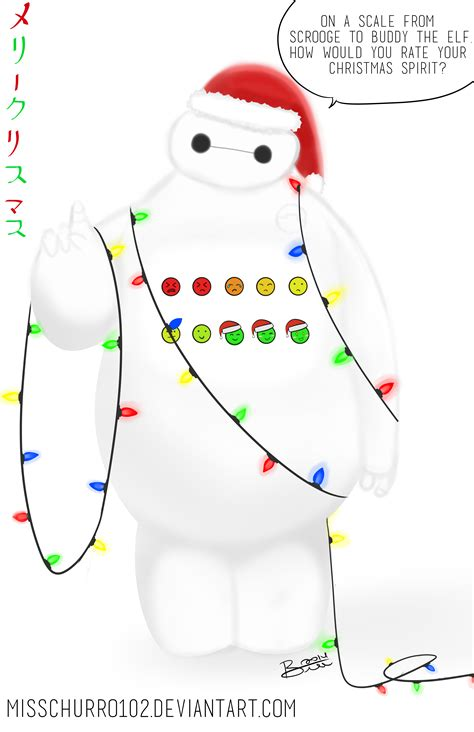 baymax wallpaper christmas merry christmas from baymax by misschurro102 on deviantart