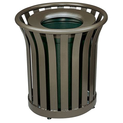 Decorative Trash Cans by Rubbermaid Fgmt22plabz 24 Gal Outdoor Decorative Trash Can