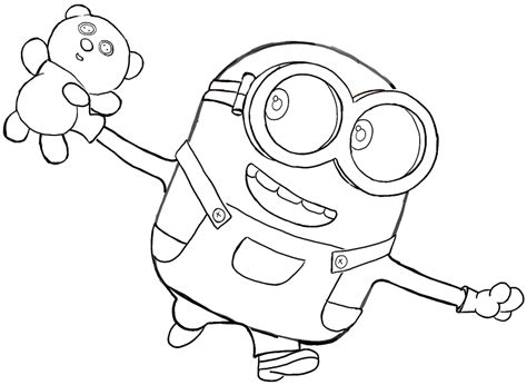 coloring pages minions bob free coloring pages of bob the minion