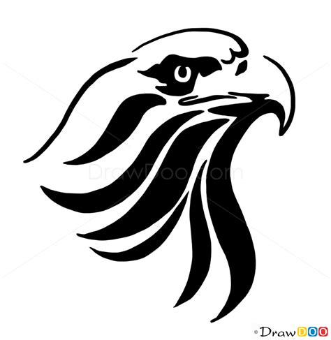how to draw tribal tattoos tribal eagle how to draw tribal tattoos