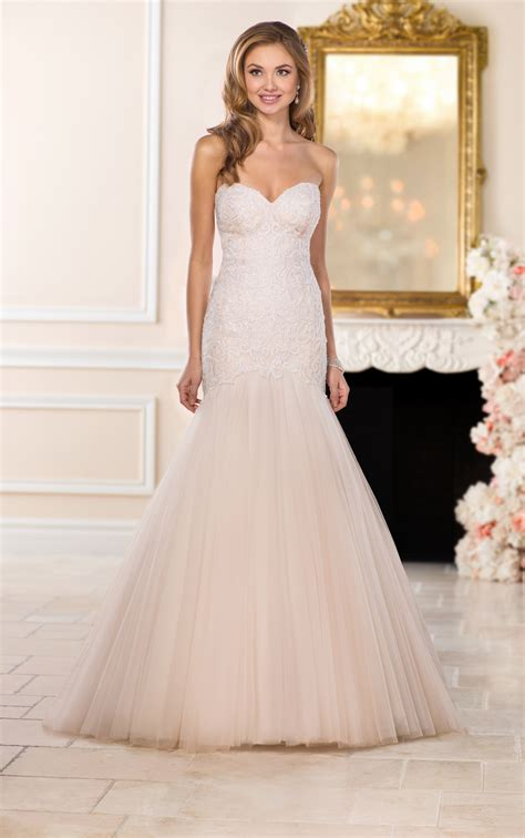wedding dresses blush trumpet wedding dress stella york
