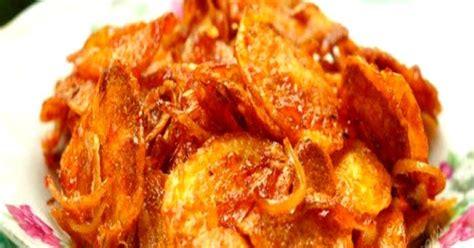 membuat kentang balado kering pedas renyah resep