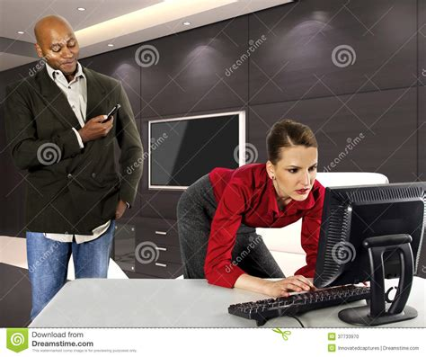 office sexual harassment stock photo image of attractive