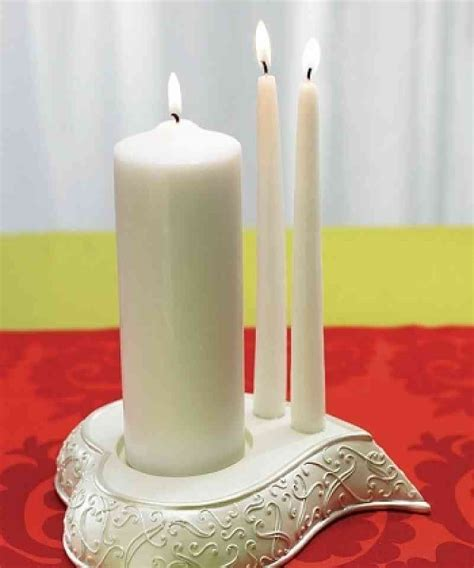 Wedding Ceremony With Unity Candle by Stylized Wedding Ceremony Unity Candle Holder