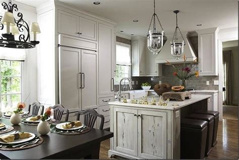 distressed island kitchen distressed kitchen island transitional kitchen dana