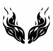 Flame Car Stickers  Vinyl Window Decals Fire Flames And Tribal