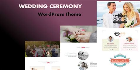 wedding ceremony wordpress theme miscellaneous