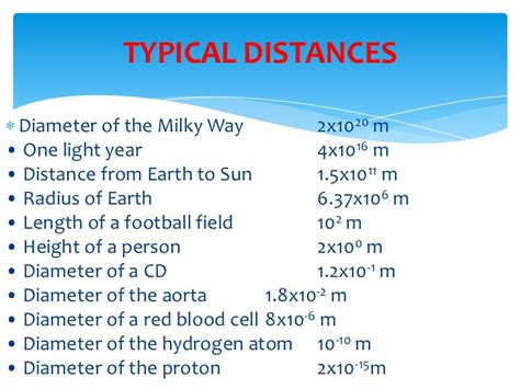 A Light Year Equals by Topic 1 Physics Physical Measurement