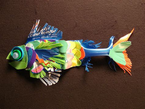 out of plastic artwork fish made from recycled plastic 27 one island