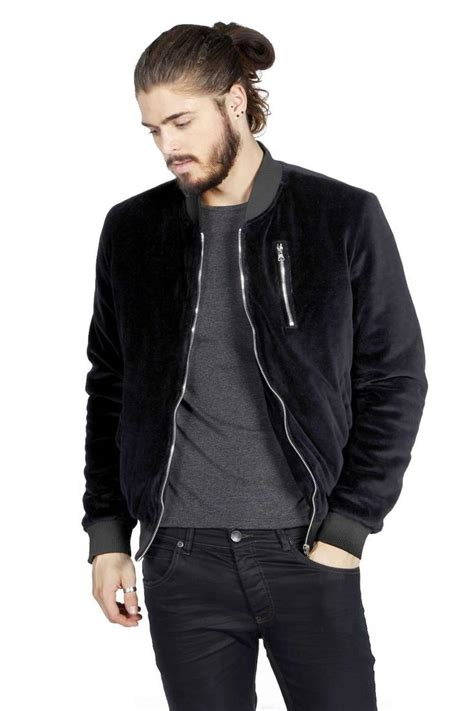 Velour Jacket slim fit velour bomber jacket blvck threads