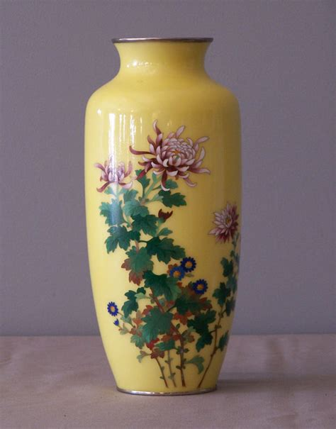 Japanese Vases For Sale japanese ando cloisonne vase with royal chrysanthemum