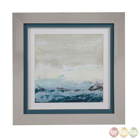 framed abstract coastal currents abstract framed wall 9900 331aec