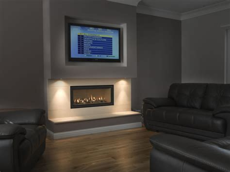 Tv On Wall Fireplace by Television Fireplace Thornwood Fireplaces